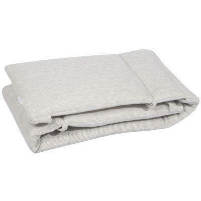Tour de lit Powder stripes (pour lits 60 x 120 et 70 x 140 cm)  par Les Rêves d'Anaïs