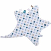 Doudou attache sucette étoile Mixed stars mint - Little Dutch