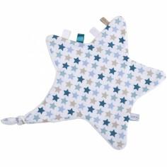 Doudou attache sucette étoile Mixed stars mint