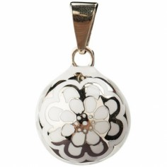 Bola blanc fleur argentée