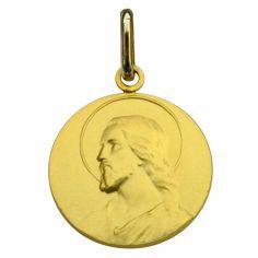 Médaille ronde Christ 16 mm (or jaune 750°)