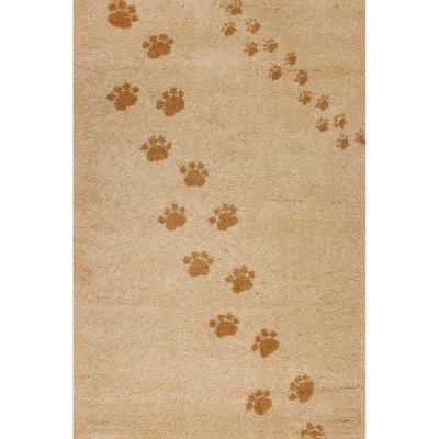 Tapis Empreintes beige (100 x 150 cm)  par Art for Kids