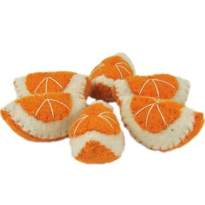 Lot de 6 quartiers d'orange en feutrine  par Papoose
