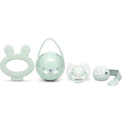 Coffret cadeau de naissance Hygge Baby lapin vert  par Suavinex