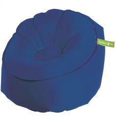 Siège gonflable bleu