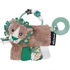 Hochet d'activités Jélékros le Lion avec anneau de dentition