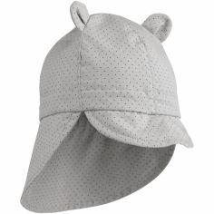 Casquette anti-UV Gorm pois gris (0-6 mois)