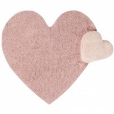 Tapis lavable Puffy Love rose nude ( 160 x 180 cm)