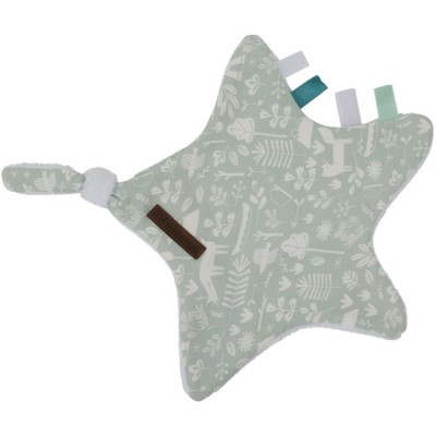 Doudou attache sucette Adventure mint Little Dutch