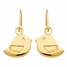 Boucles d'oreilles brisures Oiseau (or jaune 750°)  par Berceau magique bijoux