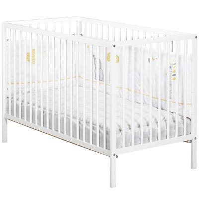 Lit à barreaux First blanc (60 x 120 cm)  par Baby Price