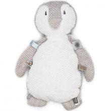 Doudou étiquettes Pingouin (35cm)  par Snoozebaby