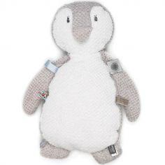 Doudou étiquettes Pingouin (35cm)