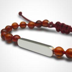 Bracelet Maracas perles (or blanc 750° et ambre)