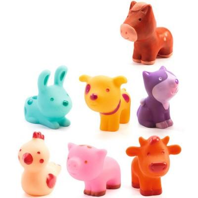 Lot de 7 animaux en plastique Troopo-farm  par Djeco