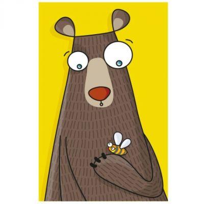 Tableau ours (14 x 22 cm)  par Série-Golo