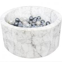 Piscine à balles ronde velours marbre personnalisable (90 x 40 cm)  par Misioo