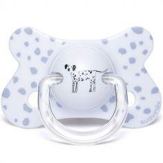 Sucette anatomique Total Look Good Dog dalmatien bleu (4-18 mois)