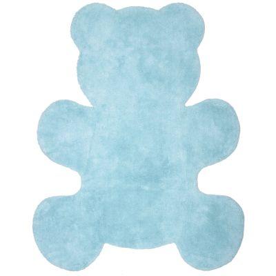 Tapis lavable ours Teddy bleu (80 x 100 cm)  par Nattiot