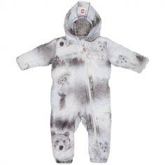Combinaison pilote Skier grise ours Botanimal (3-6 mois)