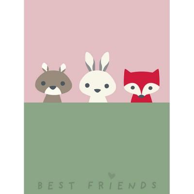 Affiche animaux de la forêt Best friends (40 x 30 cm)  par Franck & Fischer