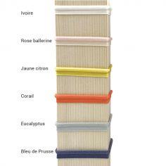 Bracelet ruban élastiqué en polyester pour charm Mon millième (6 coloris)