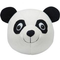 Trophée panda en tricot noir et blanc