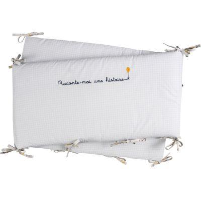 Tour de lit en coton bio Lucien (pour lits 60 x 120 et 70 x 140 cm)  par Little Crevette