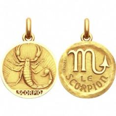 Médaille signe Scorpion avec revers (or jaune 750°)