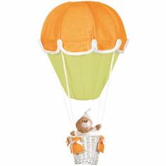 Lampe montgolfière orange et anis