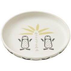Assiette en bambou Pingouin