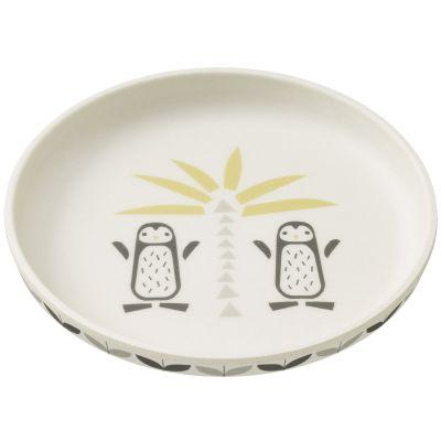 Assiette en bambou Pingouin  par Fresk