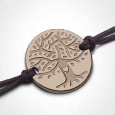 Bracelet sur cordon LOVETREE personnalisable (or rose 750°)