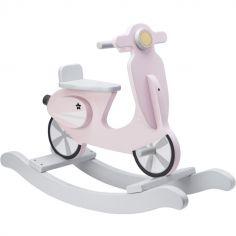 Scooter à bascule Rocking rose et blanc