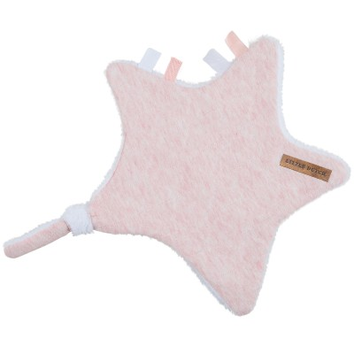 Doudou attache-sucette étoile Peach melange Little Dutch