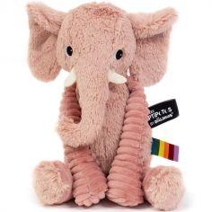 Peluche Les Ptipotos Dimoitou l'éléphant rose (26 cm)