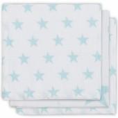 Lot de 3 essuie-mains hydrophiles Little star étoile turquoise - Jollein