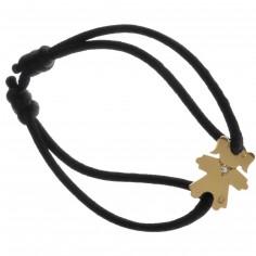 Bracelet cordon petite fille ou petit garçon collier diamant 17 mm (or jaune 750°)