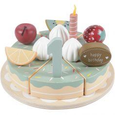 Gâteau d'anniversaire en bois (26 pièces)