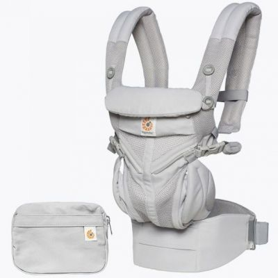 Porte-bébé Omni 360 Cool Air Mesh gris perle  par Ergobaby