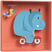 Tableau relief Hippopotame - Little big room by Djeco