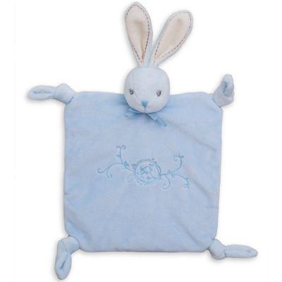 Coffret doudou plat lapin bleu Perle (20 cm) Kaloo