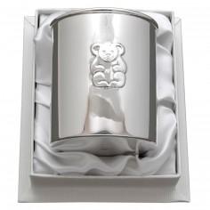 Timbale Ourson personnalisable (métal argenté) dans son coffret