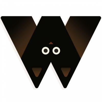 Lettre décorative chauve-souris W  par Djeco