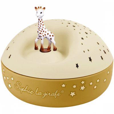 Veilleuse projecteur d'étoiles musical Sophie la girafe jaune (12 cm)  par Trousselier