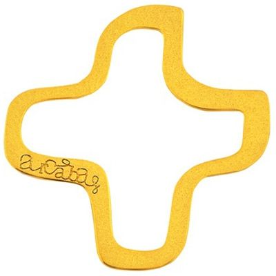 Bijou croix évidée sur cordon (or jaune 18 carats)  par Maison La Couronne