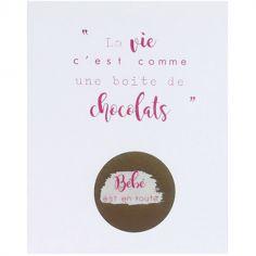 Carte à gratter Annonce de grossesse Pâques (8 x 10 cm)