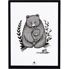 Affiche encadrée ours Family bear (30 x 40 cm)