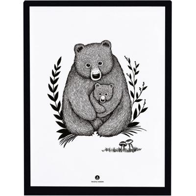 Affiche encadrée ours Family bear (30 x 40 cm) Lilipinso