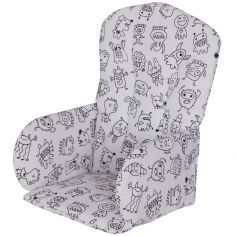 Coussin de chaise haute PVC Monstres (26 x 27 x 40 cm)